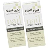 Nail Tek Nail Nutritionist, Keratin Enriched Nail Treatment Oil for Weak and Damaged Nails, 0.5 oz, 2-Pack
