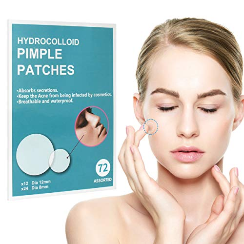 Acne Pimple Patches, 2 Sheets Hydrocolloid Acne Patch W/Tea Tree Oil, 72 Count 2 Sizes Acne Dots Zit Patch Pimple Patch Acne Patches