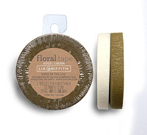 Lia Griffith STEM Tape, 2, Oro e Crema