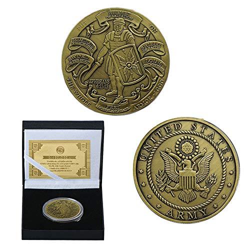 Fugift Moneta commemorativa Stati Uniti Army Liberty 1918-2018 100 Anni Anniversario Collection Art Souvenir Monete da Collezione