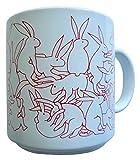 Animates Red Daytime Rabbits Mug - Taylor & Ng