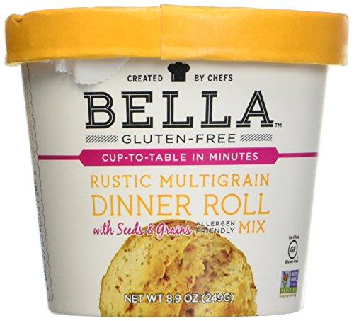 Bella Gluten-Free Multigrain Roll Mix Premium Casein Free Healthy Flour, 8.9 oz (1 Pack)