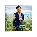 ATOT Harry Styles 2021 Calendar Harry Styles 2021 Canvas Art Poster and Wall Art Picture Print Modern Family Bedroom Decor Posters 16x16inch(40x40cm)