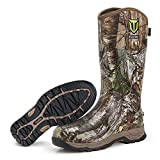 TIDEWE Rubber Hunting Boots, Waterproof Insulated Realtree Xltra Camo Warm Rubber Boots with 6mm Neoprene, Durable Outdoor Muck Hunting Boots for Men (Size 11)