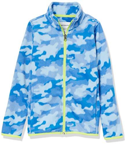 Amazon Essentials Polar Fleece Full-Zip Mock Jackets Fleecejacke, Cobalt Camo, XL