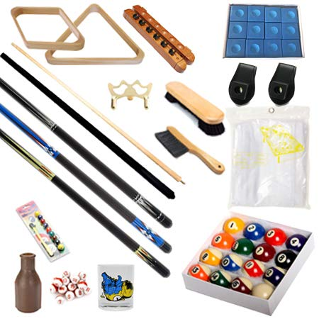 Pool Table - Premium Billiard 32 Pieces Accessory Kit - Pool Cue Sticks Bridge Ball Sets (Kit-8)