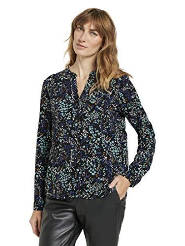 TOM TAILOR Damen Print Bluse, 25629-Black Floral Design, 40