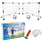 Dreamon Cage de Football Lot de 2 Buts de Football et Balle d'enfants, Jouet de Sport pour Extérieur Intérieur