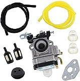 SYCEZHIJIA Carburador con Junta de Filtro de Gasolina para Cortasetos ATIKA HB 60 / HB 60N / HB60 / HB60N / N-200