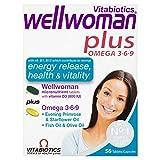4 Units (Bulk Pack) Vitabiotics Wellwoman Plus Omega 3, 6 & 9 56 Tablets/Capsules