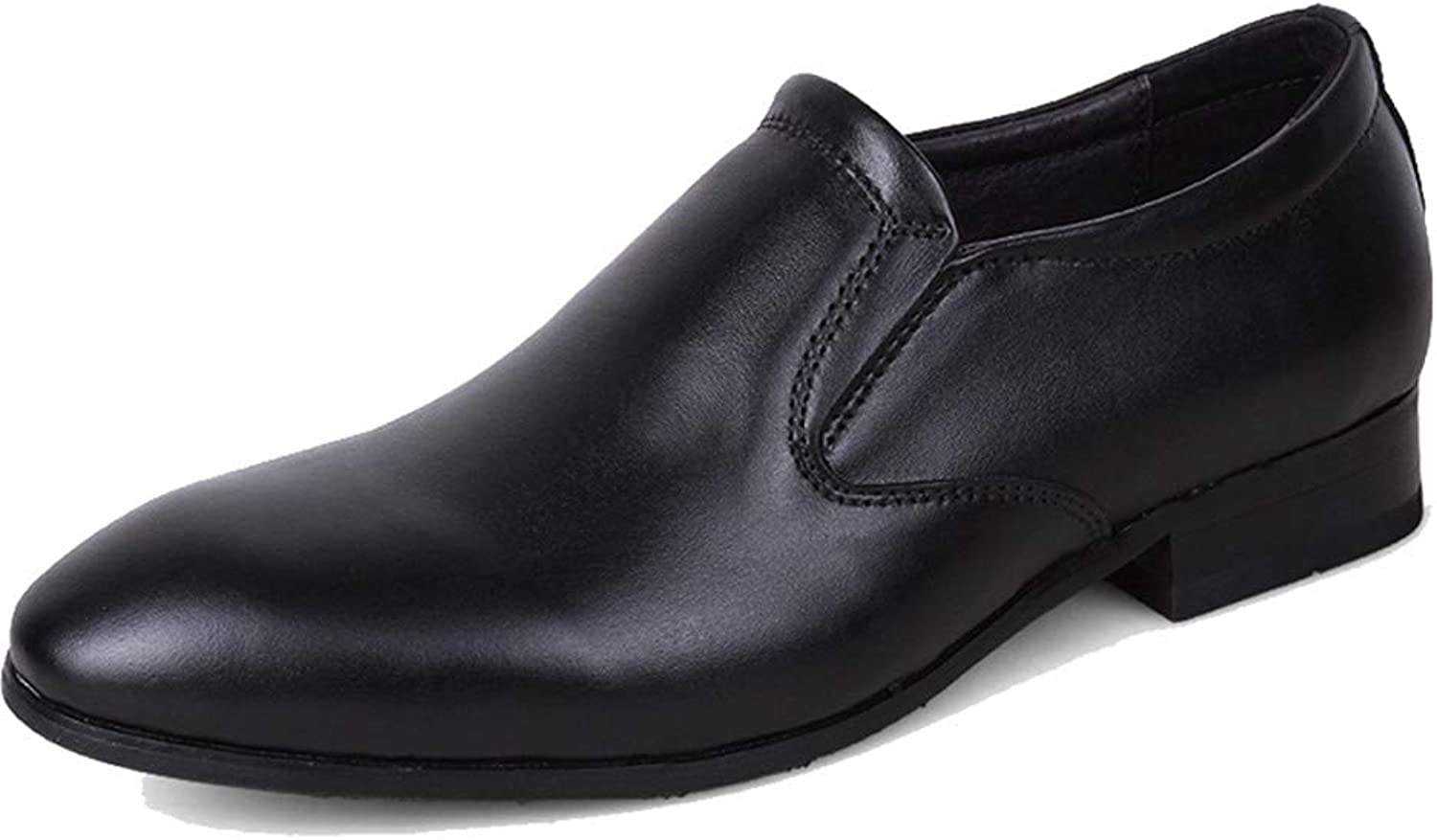 Mens Dress shoes Pointed Toe Slip-On Leather Oxford Office Business Wedding Work shoes
