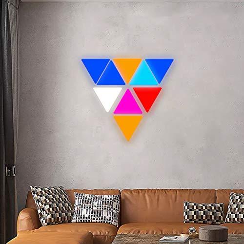 JAKROO Spielzimmer Party Smart LED Modular Lichtpaneele Dreieckswand Licht mit Fernbedienung für Schlafzimmer Wohnen/Party Dekor, 9er Pack