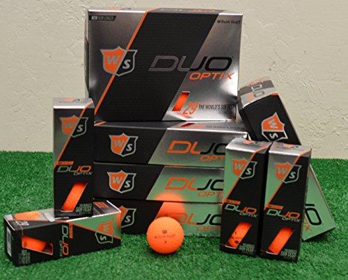 Best Review Of Balls 6 Dozen Wilson Staff Duo Optix - Matte Orange Golf