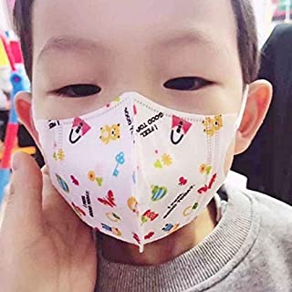 For Paint Random Colouring Delivery, 0-3 Years Baby (Girls) Disposable Melt-blown 4-layered Protection PM2.5 Dustproof Face Mask (Color : Color2)
