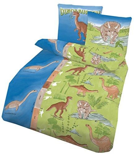 Bettwäsche Dinosaurier in Biber, 135x200cm