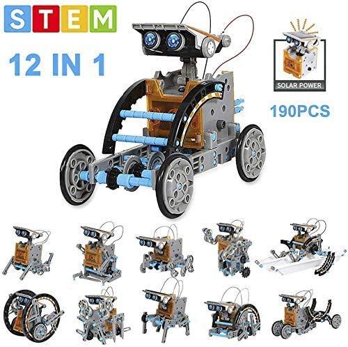 OFUN Juguete Robot Stem, 12 en 1 Robot Solar Divertido Juego Creativo Juegos educativos DIY para niños +8 Años, El Mejor Juguete de Regalo para niños