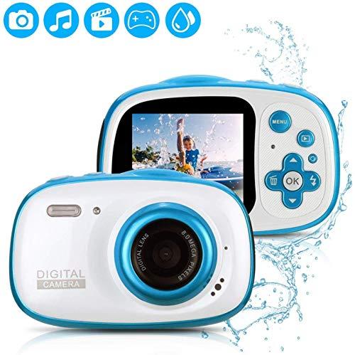 Fascol Kinderkamera wasserdichte Digitale Kamera für Kinder Videokamera mit 32GB TF-Karte /HD 1080/ 8 Megapixel/ 2-Zoll-LCD (Blau)