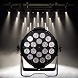 HSL LED Stage Lighting LED Par Can Lights 18X15W RGBW for A Church Stage Lighting, Home, Floor, Party, Concerts Lighting, Weddings, Bands, Clubs, Theaters, Professional Stage Performance