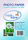 Packitsafe 2000 hojas A4 110MA2000 - Papel fotográfico (acabado mate, 210 x 279 mm)