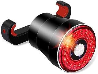 XIAOKOA Bicycle Taillights,Intelligent Brake Tail Lights,Waterproof LED Tail Light,USB Charging Tail Light,Intelligent Ind...