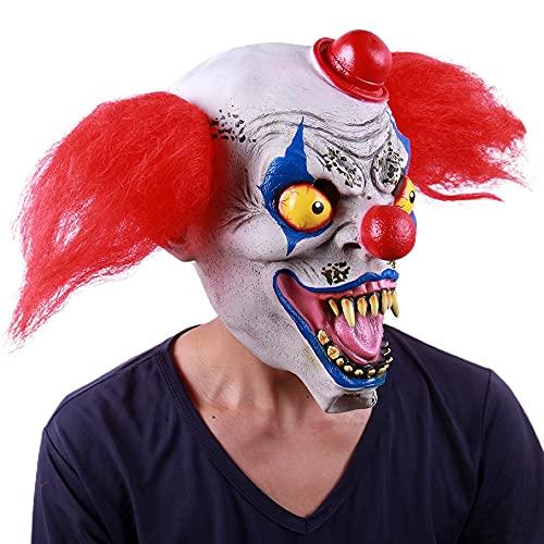 PYapron Mscara Espeluznante para Halloween, Mscaras de Terror Cosplay terrorista, mscara de Demonio Realista de ltex para Disfraz de Halloween Cosplay Accesorios Fiesta Props,Style 2
