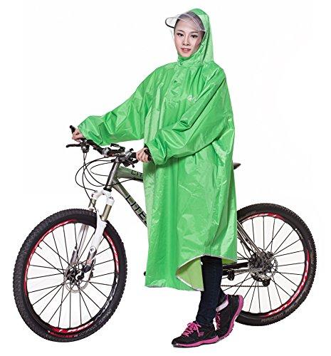 Icegrey Bike Fahrrad Regenjacken Regenponcho Wasserdicht Regenmantel für Die Jagd Camping Freizeit Regenmäntel Regencape Grün 3XL