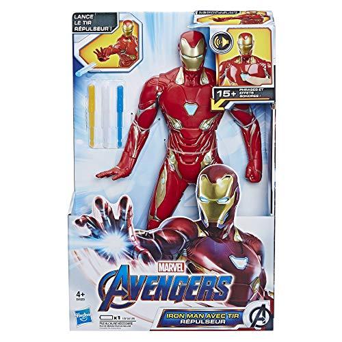 Marvel Avengers – Figurine Marvel Avengers Endgame Titan A Fonction – Iron Man - 30 cm - Jouet Avengers