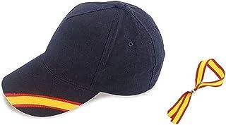 Gorra Azul Bandera de España y Regalo Pulsera Tela Bandera Española