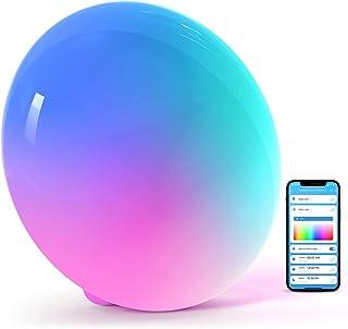 چراغ رومیزی Halussoer هوشمند ، چراغ خواب Dimgable RGB با حالت های صحنه ، چراغ خواب گرم سفید روشن برای اتاق خواب و اتاق نشیمن ، کار با الکسا و Google Home