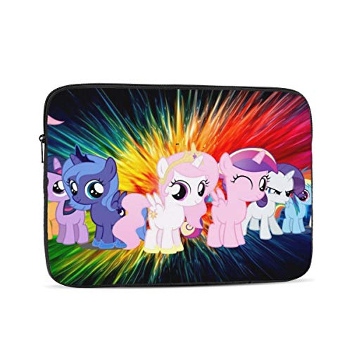 My Little Pony Laptop Sleeve 3D Printing Polyester Waterproof Shock Resistant with Zipper Protective Case,Compatible Satchel Tablet Carrying Sleeve 15 inch