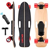 Electric Skateboards,32 Inch Standard 8 Layers Maple Wood Deck,350W Motor,2000mAh Battery,Cruiser Sport Complete E-Skateboard with Remote,Skateboarding for Adults Kids Boys Girls Teen Beginner (Red)