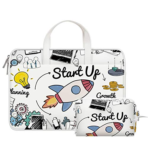 Ktong 14 Inch Laptop Sleeve Computer Case Portable Bag for Dell Inspiron 14 5481 / HP Stream 14' / Acer Spin 3 / ASUS L402YA / HP Acer Chromebook 14, S330 / Flex 14 Notebook,rocket pattern