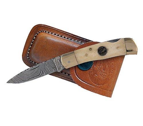 Croco Knives Klappmesser Damascus 10 Klingenlänge 6.2 cm, 14.5 cm, 333508