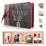 EKKONG Albumes de Fotos DIY, My Adventure Book Scrapbook Hecho a Mano(19x30cm, 40 Hojas) con Kit de Accesorios, Regalo Personali para el Día de San Valentín, Navidad, Aniversario, Cumpleaños, Bodas