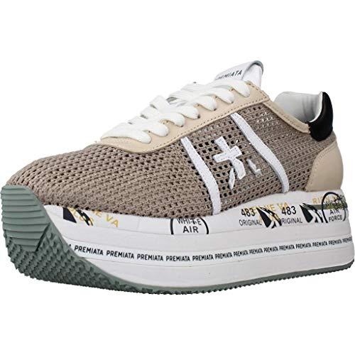 Zapatos Sneakers Mujeres PREMIATA Beth 5224 Lienzo Beige