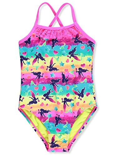 Breaking Waves Girls' 1-Piece Swimsuit - Multi, 5
