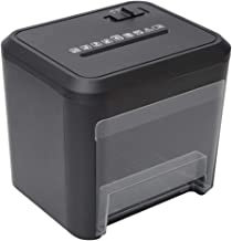 $138 » SCDFDJ Office Supplies Small Shredder 4 Cross-Cut Paper Home Office Portable Shredder with 3.5L Waste Paper Capacity with Destroying CD/Credit Cards,Black