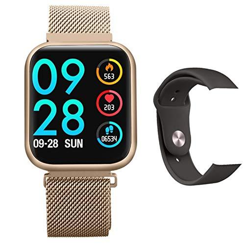 ZEIYUQI Intelligente Armbanduhr,Kompatibel Mit Android/IOS IPS Touchscreen Uhr,Kalorien/Herzfrequenz/Blutdruck/Schlaferkennungs Sportarmband,wasserdichte Bluetooth SchrittzäHleruhr,Black