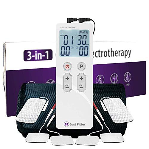 Tens Unit Stimolatore Muscolare per la Terapia del Sollievo dal Dolore e della Terapia. Dispositivo di Elettroterapia Ricaricabile. (1 Unit)