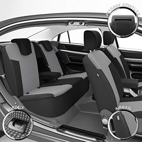 DBS - Housses de siège sur Mesure pour Kuga (10/2015 à 2021) | Housse Voiture/Auto d'intérieur | Haut de Gamme | Jeu Complet en Tissu | Montage Rapide