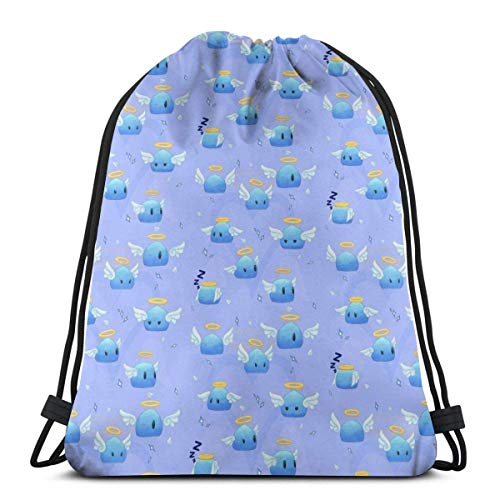 WH-CLA Cinch Bags Blue Demen Student Durable Lightweight Cinch Bags Mochila con...