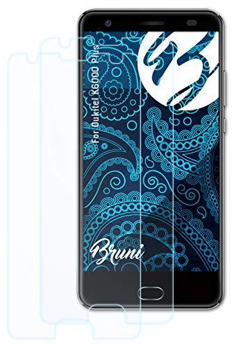 Bruni Schutzfolie kompatibel mit Oukitel K6000 Plus Folie, glasklare Bildschirmschutzfolie (2X)