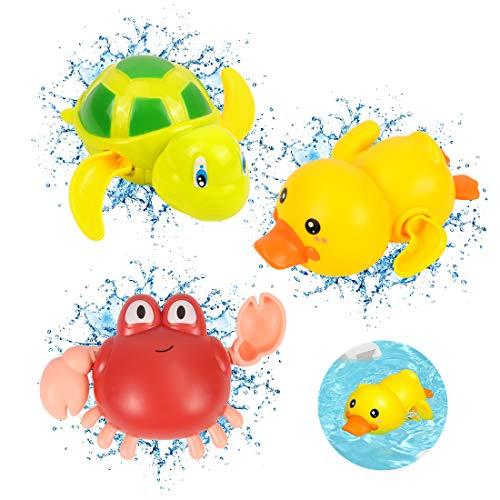 Juguetes Baño, 3pcs Juguete Baño Bebe, Juegos Bañera Bebe, Juguetes de Baño,Juguetes Baño Bebe, Juguetes de Agua para Bañera, Bañera Juguetes, Piscina Animal Juguete