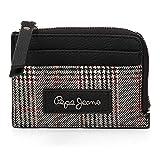 Pepe Jeans Grace Portamonete conporta carte di credito Nero 11,5x8x1,5 cms Pelle sintetica