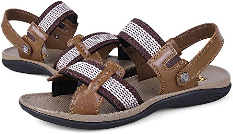 Summer shoes, beach shoes, juvenile sandals, large size Leather Sandals