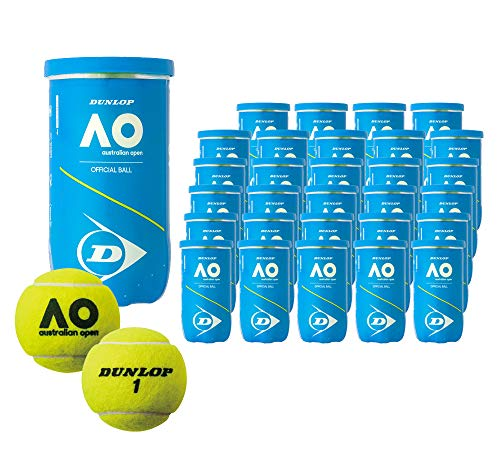 ダンロップ DUNLOP Australian Open オーストラリアンオープン 大会使用球 公式ボール AO 2球入 1箱=30缶〔60球〕 テニスボール DAOYL2DOZ DAOYL2CS60