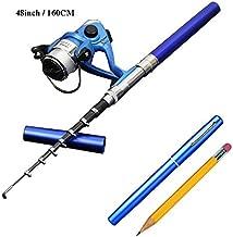 Smart Kingfisher 63Inch/160CM Mini Pocket Pen Fishing Rod Reel Combos Portable for Kids Ice Fishing