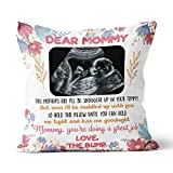 Dear Mommy You are Doing A Great Job Pillow Personalized Baby Sonogram Square Pillow Sofa Cushion for Mom Wife Daughter Daughter in Law Mother in Law (Multi 5)