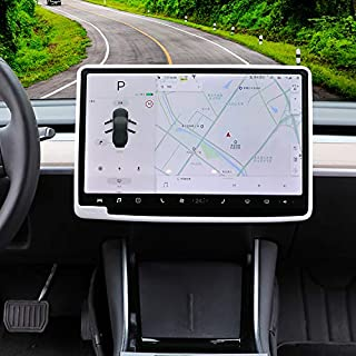 Carwiner Tesla Model 3/Y Case Center Console Screen Protection Anti-Collision, Navigation Silicone Protective Cover Interi...