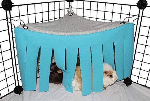 YUIP Kleintier Zelt, Hamster Hängematte Käfige Dekoration Zubehör, Kleintierbett Haustier Spielzeug Quaste für Hamster Meerschweinchen(Blau)